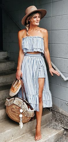 Refined Summer Outfits To Inspire You - Spring Outfits Spring Summer Fashion, Spring Outfits, Summer Travel Fashion, Boho Fashion, Fashion Outfits, Womens Fashion, Looks Style, My Style, Bohemian Mode