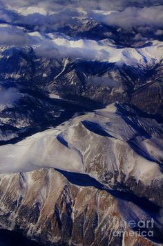 ✯ View of the Rocky Mountains from 30,000 feet