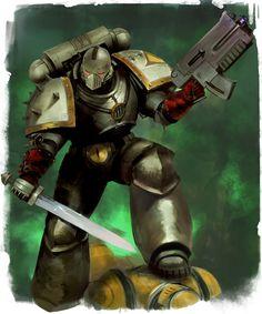 Warhammer 40k Art, Warhammer Models, Space Marine, Sons Of Horus, The Horus Heresy, Deathwatch, Space Wolves, Angel Of Death, Starcraft
