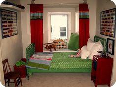 green bed frame