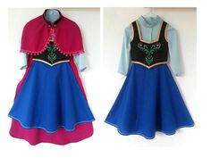 4 piece Frozen Anna costume. Anna cape blouse by ViaFUNICOLARE