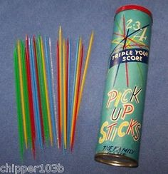 Pick-up sticks.patience and dexterity required. All the girls would have fun playing with pick up sticks. Nostalgia, Childhood Toys, My Childhood Memories, Vintage Games, Vintage Toys, Peter Et Sloane, Pick Up Sticks, Back In The 90s, Retro Toys