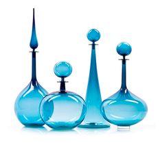 Joe Cariati glass. Oh, to add these to my turquoise glass collection...so pretty.