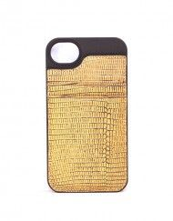 Gold Metallic Lizard iPhone 4 case with card holder