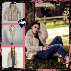 """Abercrombie Shaggy Knit Coat ~For those freezing cold winter's and early spring seasons this knit coat is your best friend~ This coat has a thick and very soft fuzzy material,  Its cuffed at at the sleeves and Cannot be pulled down, This coat also features 2 front pockets and 2 side button that has engraved """"Abercrombie and Fitch"""" Excellent Condition Abercrombie & Fitch Jackets & Coats"""
