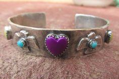 Sterling Silver Artisan Thunderbird Hippie Heart by RistraRanch
