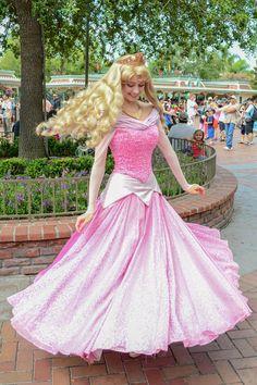 Aurora twirling at WDW Disneyland