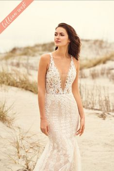 Lillian West - Style Illusion Bodice Fit and Flare Gown with Pearl Detail Fit And Flare Wedding Dress, Dream Wedding Dresses, Flare Dress, Bridal Dresses, Lace Wedding, Lillian West Wedding Gowns, Justin Alexander, Indian Wedding Gowns, Knot