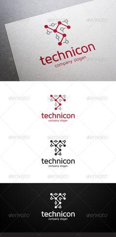 Technicon T Letter - Logo Design Template Vector #logotype Download it here: http://graphicriver.net/item/technicon-t-letter-logo/6505100?s_rank=1692?ref=nesto