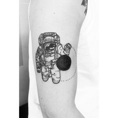 Astronaut and the black hole by Kasia Gedankengut at Careless...