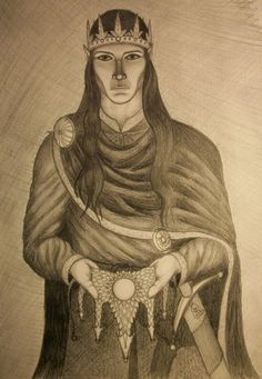 Thingol and the Nauglamir by Lord-Calius.deviantart.com on @DeviantArt