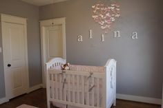 Pink and Gray Baby Nursery - Baby's Dream Brie Crib & Serena and Lily Colette Baby Bedding