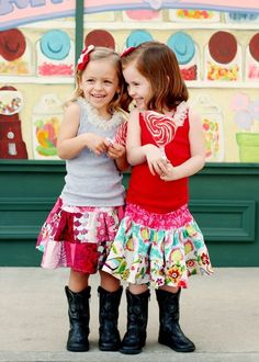 Tiered Twirl Strip work Skirt by Little Wellies -- Available in Sizes 12m, 2, 3, 4, 5, 6, 7, 8. 34.95,Etsy.