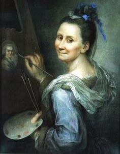 1666 Giovanna Fratellini (Italian painter, 1666-1731) Self Portrait 1720