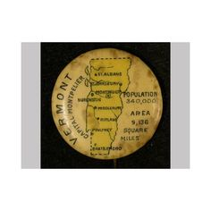 March 4, 1791: Vermont becomes the 14th state in the United States. Pinback button, 1896-1910, Gift of Bella C. Landauer, New-York Historical Society, 2002.1.4272.
