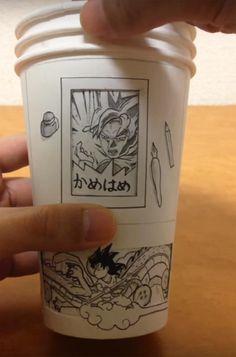 Dragon Ball Paper Cup – Il crée des manga animés sur des gobelets en carton