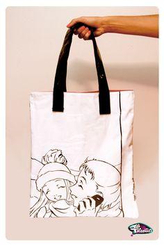 Manga hand bag. Isn't this cool? @R J McNally