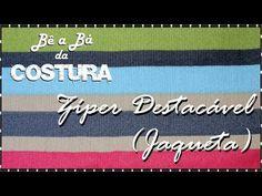 Colocação de Zíper Destacável (JAQUETA) – Bê a Bá da Costura - YouTube