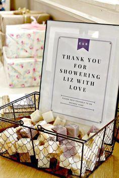 A Rustic Romantic Bridal Shower – Mini handmade soaps for bridal shower favors – Bridal Shower Decorations Bridal Shower Favors Diy, Bridal Shower Planning, Wedding Shower Decorations, Elegant Bridal Shower, Bridal Brunch Favors, Soap Wedding Favors, Unique Bridal Shower Gifts, Baby Favors, Wedding Souvenir