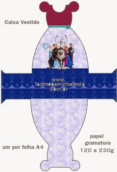 Cute Frozen Party: Free Printable Boxes.