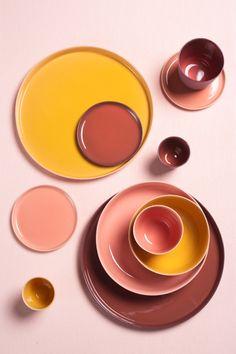 Orange Plates, Orange Table, Life Table, Tablewares, Prop Styling, Colour Pallette, Pottery Plates, Monochrome Photography, Colour Combinations