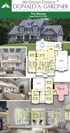 The Blarney – House Plan 1424 Great room from The Blarney house plan 3102 sq ft House Plans Mansion, Sims House Plans, House Layout Plans, Craftsman House Plans, Dream House Plans, House Layouts, House Floor Plans, Cool House Plans, Craftsman Interior