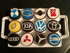 Car badge cupcakes