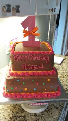 Arianas first birthday cake