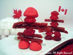 Need an idea for a Canadian themed party appetizer? Make these super cute and delicious edible Inukshuk statues modeled after the magnificent stone monuments built by the Inuit people. Canadian Party, Canadian Food, Canadian Recipes, Canada For Kids, Canada Eh, Canada Day Fireworks, Canada Day Crafts, Canada Day Party, Party Food Platters
