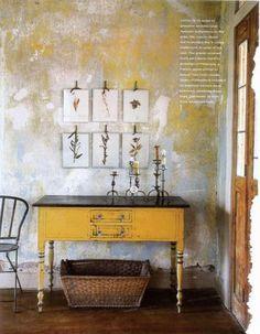 Interior – Design – Wohnen – Haus – Architektur – Fashion – Trends – Natur – Art The post Interior – Limestone House, Limestone Wall, Architecture Mode, Texas Farmhouse, Distressed Walls, Deco Boheme, Old Wall, Wall Finishes, Nature Decor