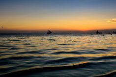Smooth sailing during sundown Station 1 Boracay, Philippines Boracay Philippines, Station 1, Travel Photos, Airplane View, Sailing, Smooth, Sunset, Beach, Outdoor