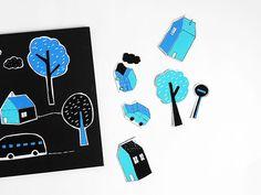 DIY Printable City Magnets for Kids