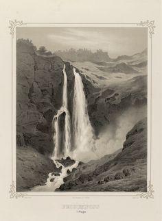Norge fremstillet i Tegninger - Joachim Frich - Feigumfoss i Sogn.  jpg (3529×4833)