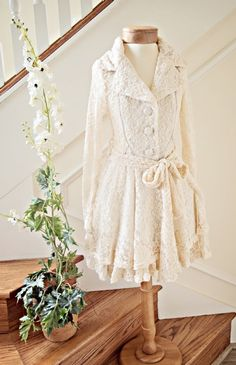 Stunning Women's Shabby Chic Lace Fall Coat Amazing for Family Portraits! Matching Dress Available Too - Ryu Clothing for Women