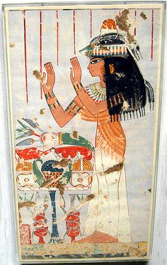 Menna's Daughter Offering to her Parents, Tomb of Menna, Egypt