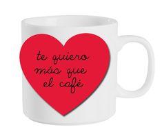 Para un comienzo muy romántico el Día de San Valentín, adorna su taza de café con un amoroso mensaje - de blog.fiestafacil.com / For a romantic start to Valentine's Day, decorate his or her coffee cup with a loving message - from blog.fiestafacil.com