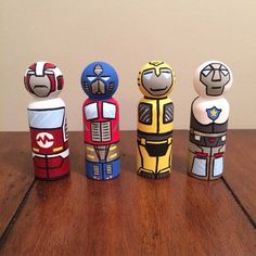 transformers set of 4 peg dolls