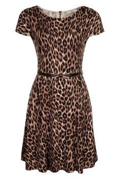 Animal Fit And Flare Dress Leopard Fashion aebab1dd7