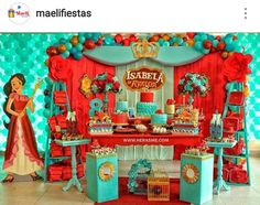 Elena Of Avalor Birthday Party Dessert Table and Decor