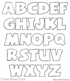Letters Stencil For Coloring Make It Pinterest Printable - Letter stencil templates
