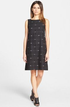 Eileen Fisher Cotton Bateau Neck Shift Dress (Regular & Petite) available at #Nordstrom