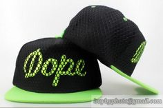 DOPE Snapbacks Fashion Hats Cap Black Green Mesh|only US$6.00 - follow me to pick up couopons.
