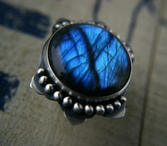 Out of the Void --Labradorite Sterling Silver Ring by MercuryOrchid