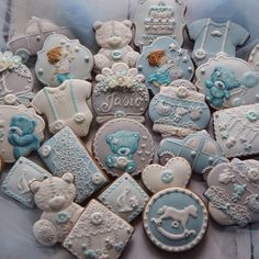 """Baby boy birthday cookies 