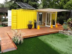 This home is made out of a recycled shipping container.