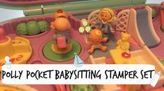Vintage polly pocket babysitting stamper set from 1992