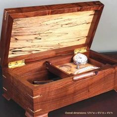 Gift for Her Handmade Wooden Jewelry Box Valentines Treasure Memory