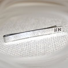 Men's Personalized Custom Hand Stamped Tie Bar