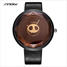 SINOBI Fashion Skull Women Watches Luxury Brand Watch Cool Pirate Witch Big Dial Quartz Watch Female Clock Hour relogio feminino