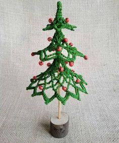 Christmas tree Home decoration Crochet Ornament knitting